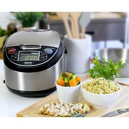 5.5 Cup Rice Cooker Warmer Steamer Non Stick Inner Pot LCD D