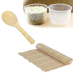 2 pack Rice Measuring Cup + Rice Paddle + Sushi Roller - Cle