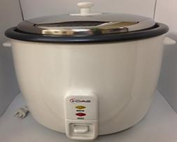 Saachi SA1280 Rice Cooker Large 25 Cup Chrome with Non-stick