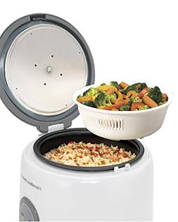Sale  Rice Cooker W Rinser/Steam Basket, 4 Cups Uncooked Res