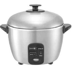 Sunpentown SC-886 3 Cup Stainless Steel Rice Cooker and Stea
