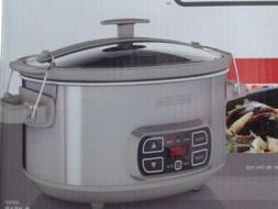 BLACK+DECKER SCD1007 7 Quart Programmable Slow Cooker with D
