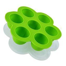 NEW Accessories Silicone Egg Poachers Mold With Silicone Cov