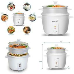 Small 3Cup Rice Cooker And Vegetable Steamer Stainless Steel