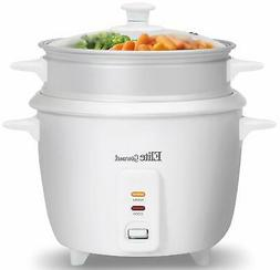 Small 6Cup Rice Cooker And Vegetable Steamer Stainless Steel