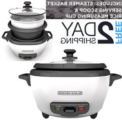 small rice cooker with steamer electric brown