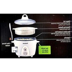 Panasonic SR-G06FGEW 3-Cup Automatic Rice Cooker w/ Steamer,