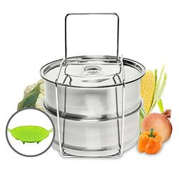 ATTA5 Stackable Pans for Instant Pot with Handle – Advance