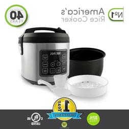 Aroma Stainless Steel 20 Cup Programmable Rice Cooker & Stea