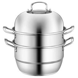 PAL HOMEGOODS Stainless Steel 3, Tier/Layer Steamer Cooking