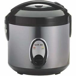 Stainless Steel 6-cup Rice Cooker Grey