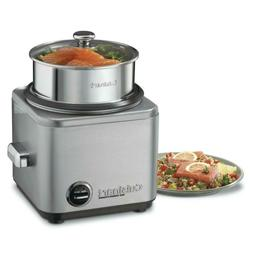 Cuisinart Stainless Steel 8-Cup Rice Cooker Pot Glass Lid Au