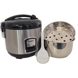 Oyama 10-Cup All Stainless-Steel Rice Cooker/Steamer/Warmer,