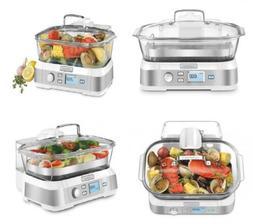 Cuisinart STM-1000W Cookfresh Digital Glass Steamer, White