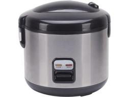 Sunpentown SC-1202SS Black/Stainless Steel 6-cups Rice Cooke