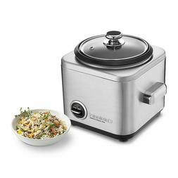 The Cuisinart CRC 400 4-cup non-stick rice cooker is stainle