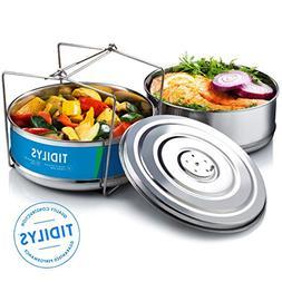Tidilys High Pressure Cooker Steamer Basket with Lid Stackab
