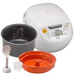 Tiger Japan Made Synchro-Cooking 5.5-Cup Micom Rice Cooker a