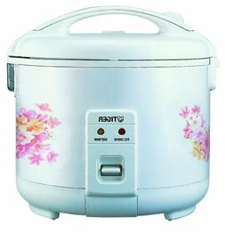 Tiger JNP-0550-FL 3-Cup  Rice Cooker and Warmer, Floral Whit