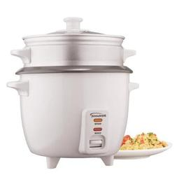 Brentwood TS-600S. Cup Rice Cooker with Steamer Attachment-