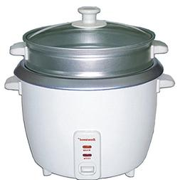 Brentwood TS-600S 5-Cup Rice Cooker Non-Stick +Steamer Attac