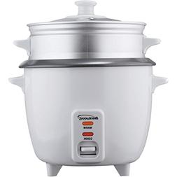 Brentwood TS-600S 5-Cup Rice Cooker +Steamer Attachment - Wh