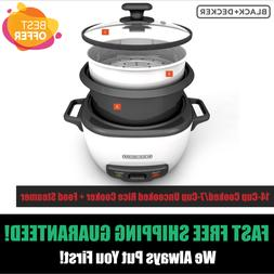Uncooked Rice Cooker and Food Steamer 6 Cup Cooked 300W Warm