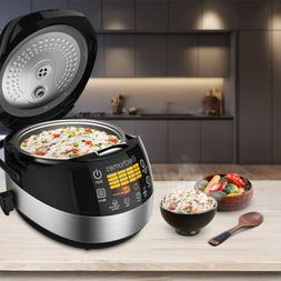 Upgrade LED Touch Control Rice Cooker & Warmer 16 in 1 Multi