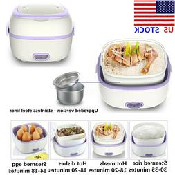 US Multifunctional Electric Lunch Steamer Box Mini Rice Cook