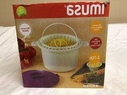 IMUSA USA MIC-11904 Microwave Multipurpose Cooker 3.7-Quart,