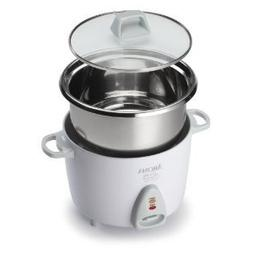 Home Essential Aroma Simply Stainless 3-Cup 6-Cup  Rice Cook