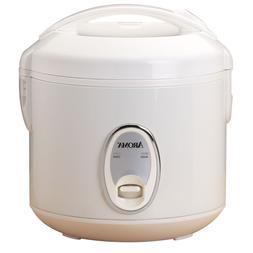 Aroma White Plastic 8-Cup Non-Stick Removable Pot Rice Cooke