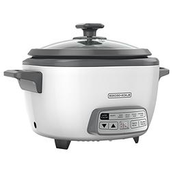 White Rice Cooker, White 14-cup Digital Portable Handheld Li