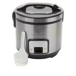 Wolfgang Puck 10-Cup Electric Rice Cooker and Steamer OR Min