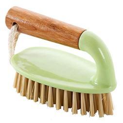 Feccile Wooden Handle Bathroom Bath Tub Cleaning Brush Scrub