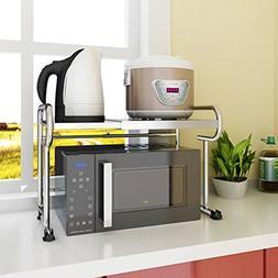 ZfgG 2 tier Kitchen Microwave Shelf Oven Rack Floor Standing